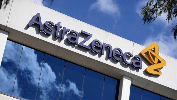 Logo de la compañía farmacéutica AstraZeneca - Sputnik Mundo