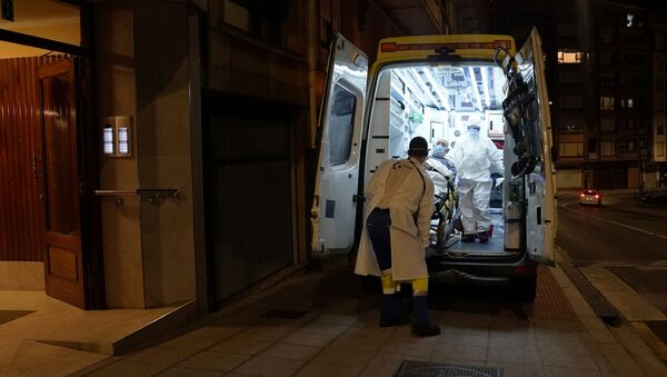 Ambulancia en España - Sputnik Mundo