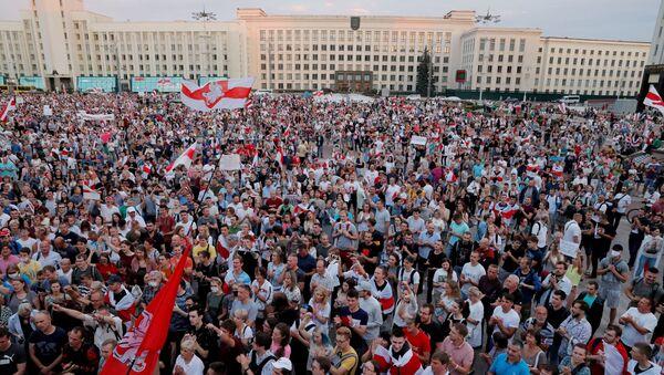 Protestas en Minsk, Bielorrusia, tras las elecciones presidenciales - Sputnik Mundo
