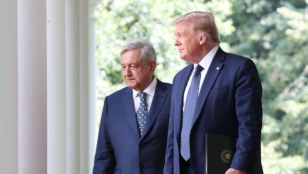 El presidente de México, Andrés Manuel López Obrador, y su par estadounidense, Donald Trump - Sputnik Mundo