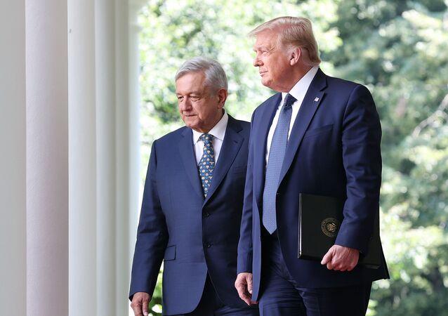 El presidente de México, Andrés Manuel López Obrador, y su par estadounidense, Donald Trump