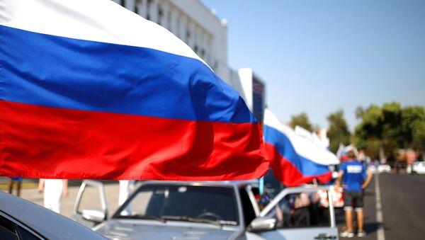En Rusia celebran el Día de la Bandera - Sputnik Mundo