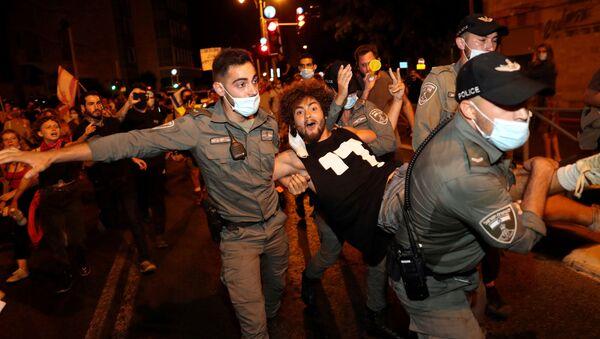 Protestas contra Netanyahu en Israel - Sputnik Mundo