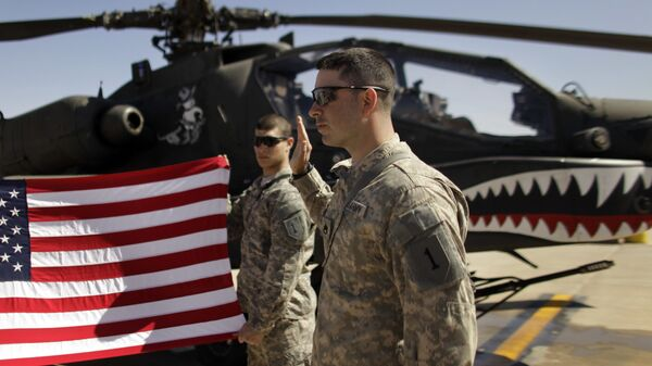 Militares de EEUU en la base militar de Camp Taji en Irak - Sputnik Mundo