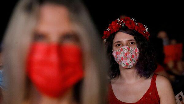 Protesta contra la violencia sexual en Tel Aviv, Israel  - Sputnik Mundo