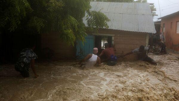 Consecuencias de la tormenta tropical Laura (archivo) - Sputnik Mundo