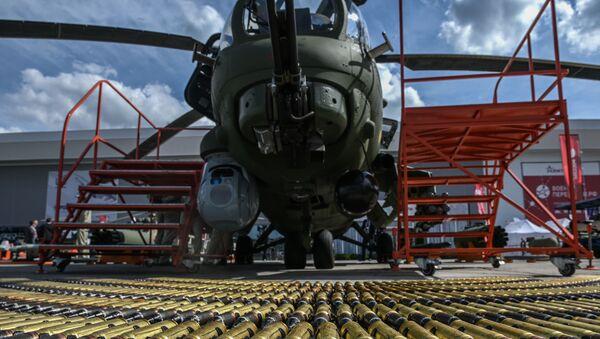 Un helicóptero Mi-28N presentado durante el foro Army 2020 - Sputnik Mundo