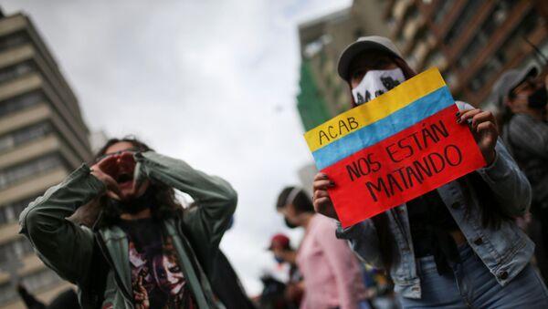 Una protesta contra incremento de la violencia en Colombia - Sputnik Mundo