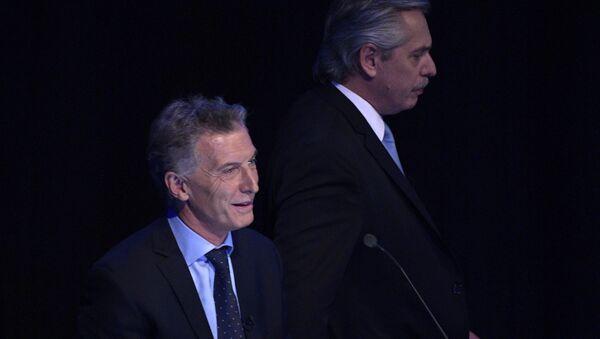 El expresidente argentino, Mauricio Macri, junto al actual mandatario, Alberto Fernández - Sputnik Mundo