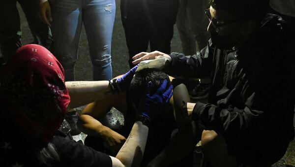 Un heridos en las protestas en Wiskonsin, EEUU - Sputnik Mundo