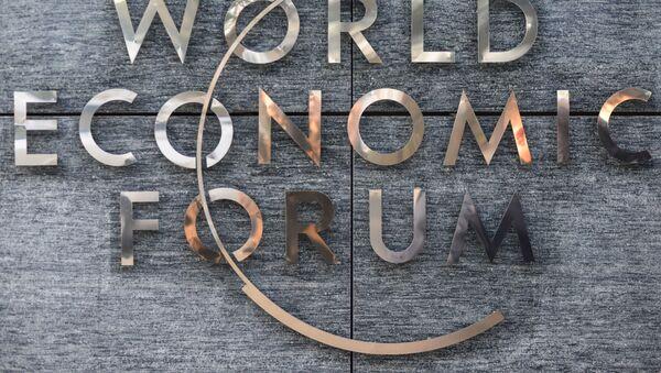 Logo del Foro Económico Mundial en Davos - Sputnik Mundo