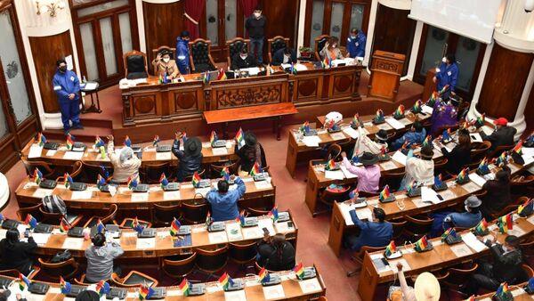 Una sesión de la Cámara de Deputados de Bolivia - Sputnik Mundo