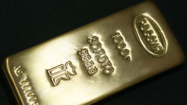 Un lingote de oro producido en Rusia - Sputnik Mundo