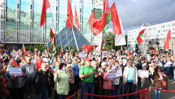 Protestas progubernamentales en Minsk, Bielorrusia (archivo) - Sputnik Mundo