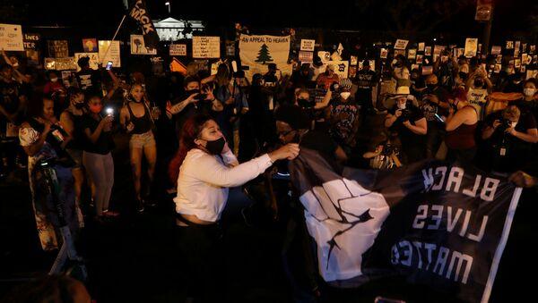 Las protestas en Washington, EEUU - Sputnik Mundo
