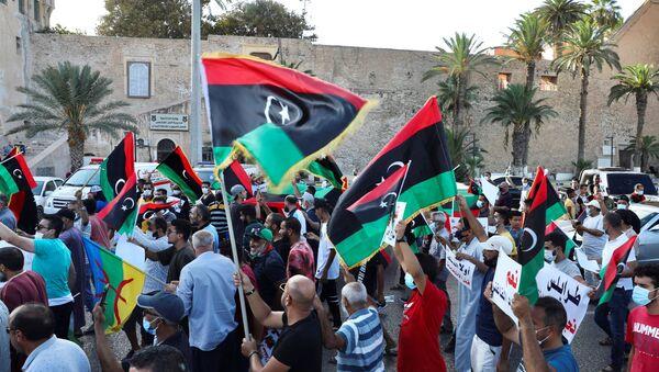 Protestas en Trípoli - Sputnik Mundo
