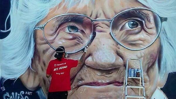 Mural de la activista por los DDHH Luisa Cuesta en Uruguay pintado por José Gallino - Sputnik Mundo