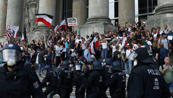 Protestas en Berlín - Sputnik Mundo