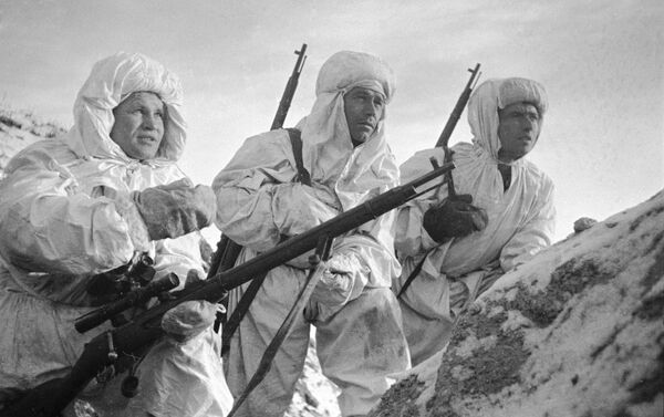 Militares rusos durante la Batalla de Stalingrado - Sputnik Mundo