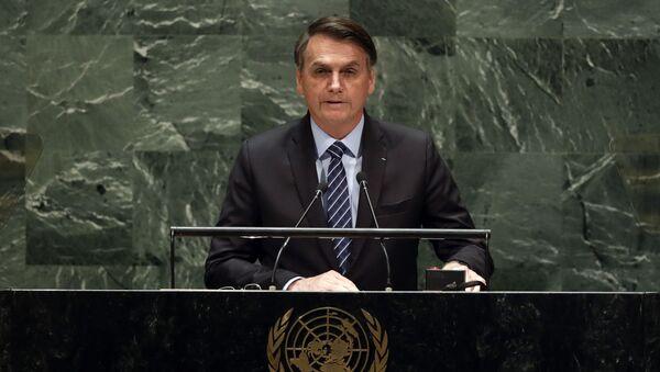 Jair Bolsonaro, presidente brasileño - Sputnik Mundo