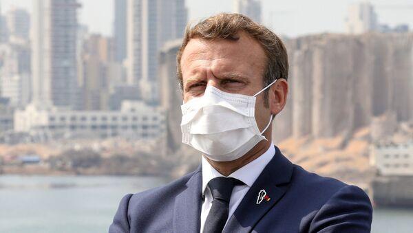 Emmanuel Macron, presidente de Francia, en Beirut - Sputnik Mundo
