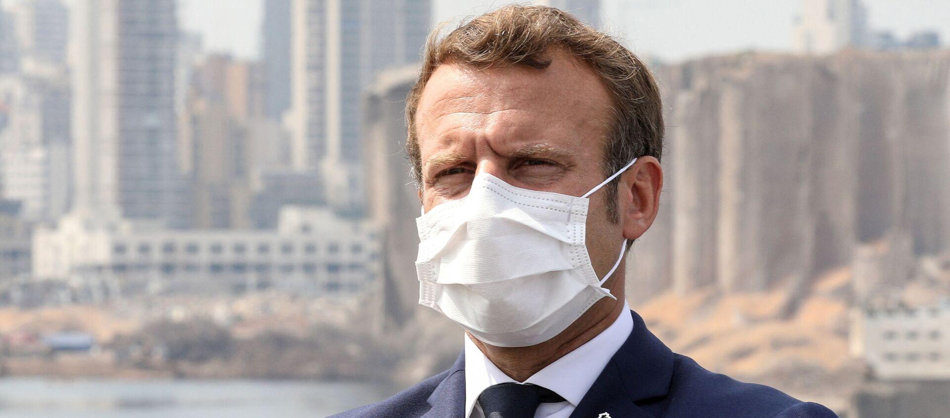 Emmanuel Macron, presidente de Francia, en Beirut - Sputnik Mundo, 1920, 02.09.2020