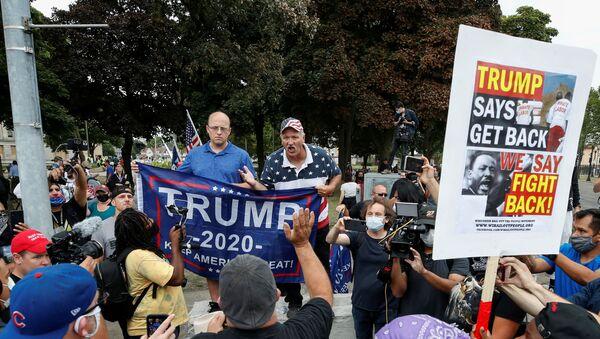 Donald Trump visita Kenosha, Wisconsin - Sputnik Mundo
