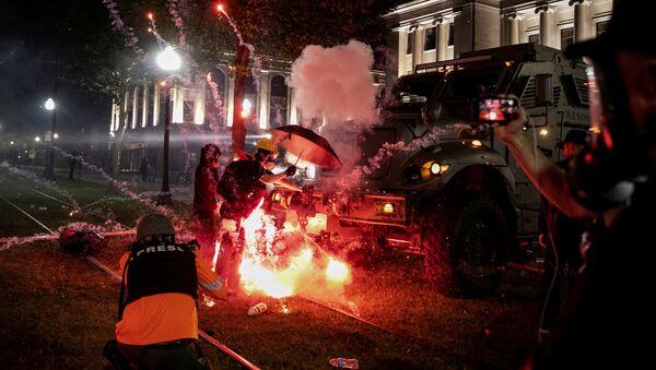 Protestas en EEUU - Sputnik Mundo