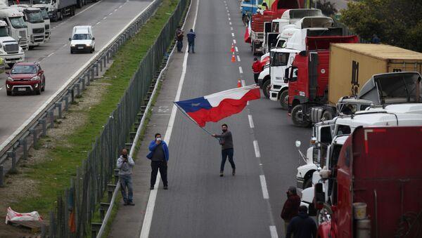 Huelga de camioneros Chile - Sputnik Mundo