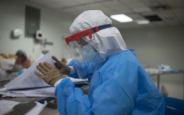 El área de Cuidados Intensivos del hospital Dr. Domingo Luciani, tiene capacidad para 40 personas. - Sputnik Mundo