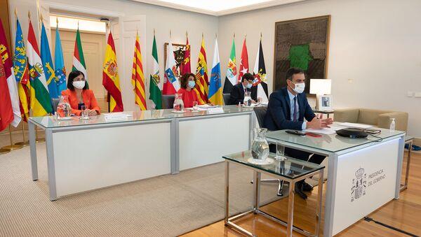 Sánchez preside por videoconferencia la XXII Conferencia de Presidentes - Sputnik Mundo