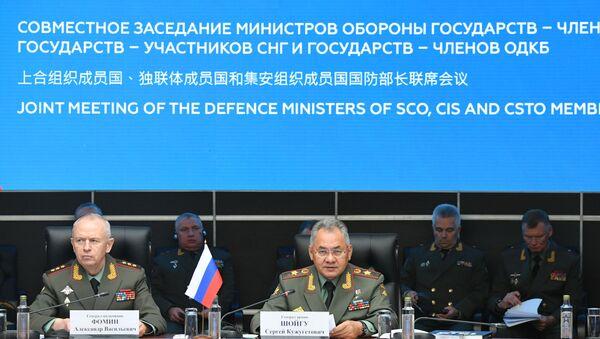 Reunión de los Ministros de Defensa de la CEI, OTSC y OCS - Sputnik Mundo