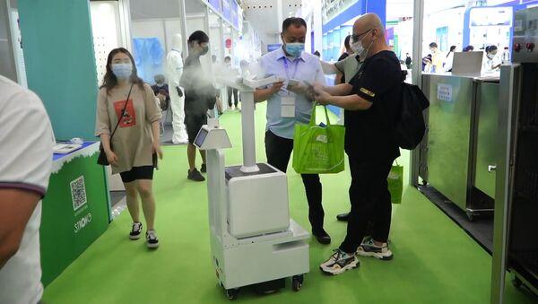 la exposición Wuhan International Anti-Epidemic Expo - Sputnik Mundo