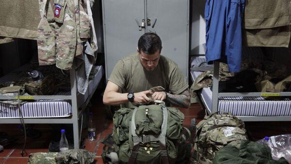 Un efecto del Ejército estadounidense en una base aérea de Tolemaida, en Colombia, en enero de 2020 - Sputnik Mundo