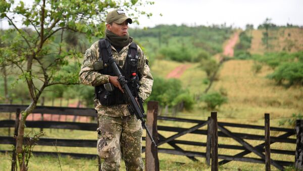 Un miebro de la Fuerza de Tarea Conjunta de Paraguay - Sputnik Mundo