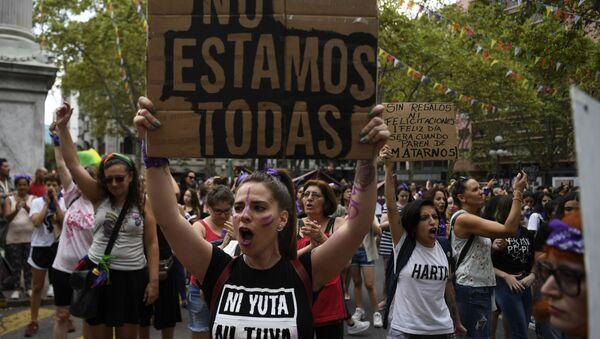 Marcha del 8 de marzo en Uruguay - Sputnik Mundo