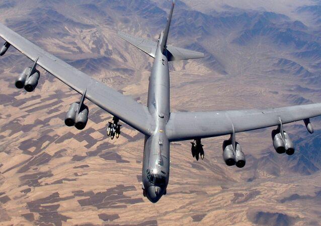 Un bombardero B-52 estadounidense (imagen referencial)