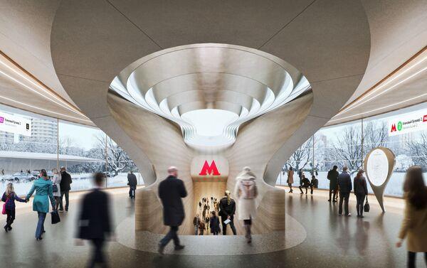 El proyecto para la nueva estación de metro Klenovi Bulvar de Moscú - Sputnik Mundo