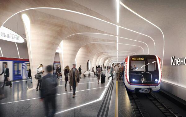 El proyecto de Zaha Hadid Architects para la nueva estación de metro Klenovi Bulvar de Moscú - Sputnik Mundo