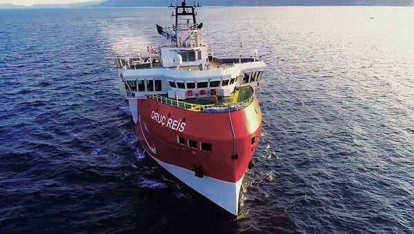 El barco de exploración turco Aruj Reis - Sputnik Mundo