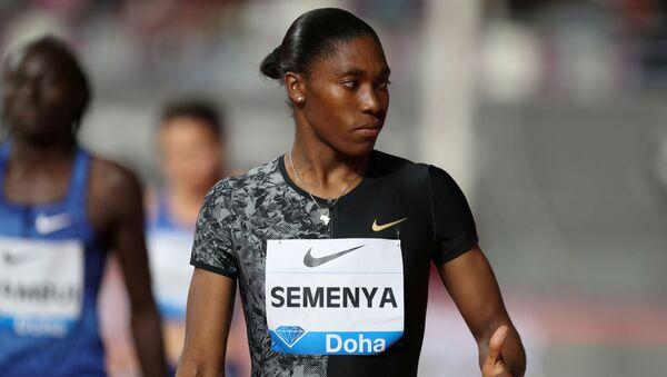 Caster Semenya, doble campeona olímpica sudafricana - Sputnik Mundo