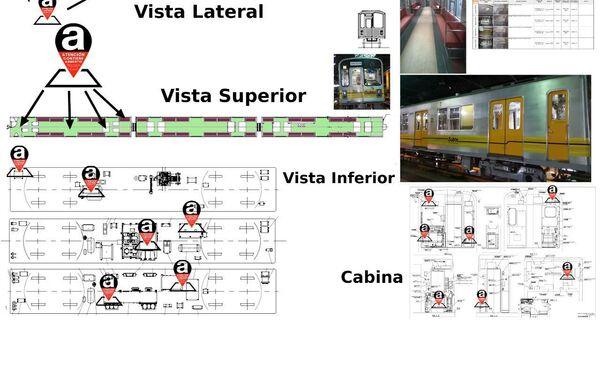 Las imagenes de trenes en el metro de Buenos Aires que contienen el amianto - Sputnik Mundo