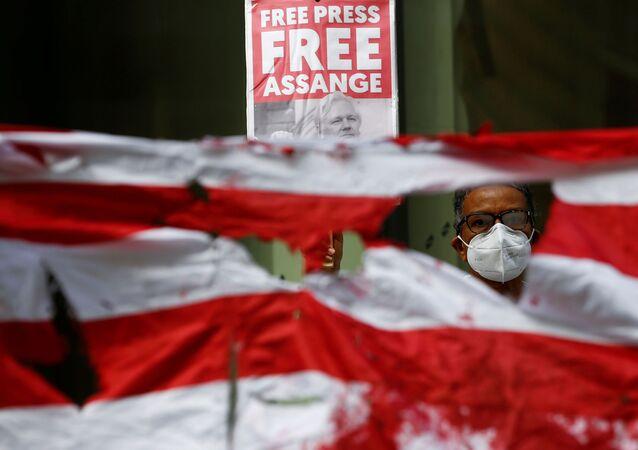 Partidarios del fundador de Wikileaks, Julian Assange