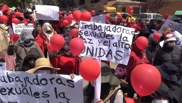 ¡Queremos trabajar!: cientos de trabajadoras sexuales se rebelan en La Paz, Bolivia - Sputnik Mundo