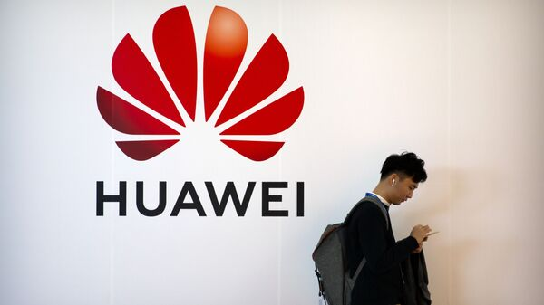 El logotipo de Huawei  - Sputnik Mundo