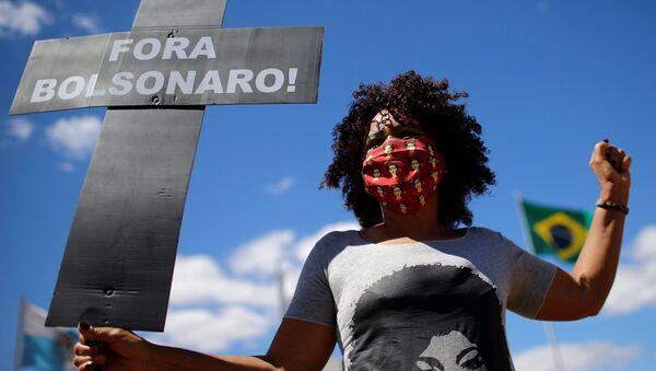 Protestas del movimiento negro de Brasil conra Bolsonaro - Sputnik Mundo