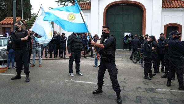 Manifestación de policías de Buenos Aires - Sputnik Mundo