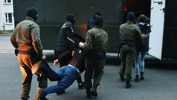 Arresto de los manifestantes en Minsk, Bielorrusia - Sputnik Mundo