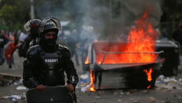 Disturbios en Bogotá - Sputnik Mundo