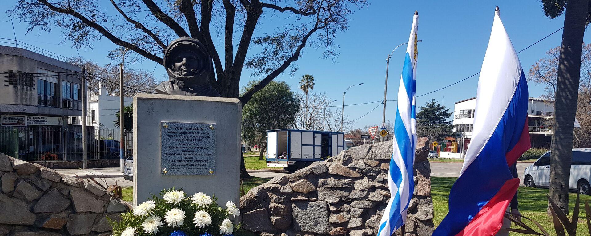 La inauguración de un monumento al cosmonauta ruso Yuri Gagarin en Montevideo, Uruguay - Sputnik Mundo, 1920, 09.04.2021